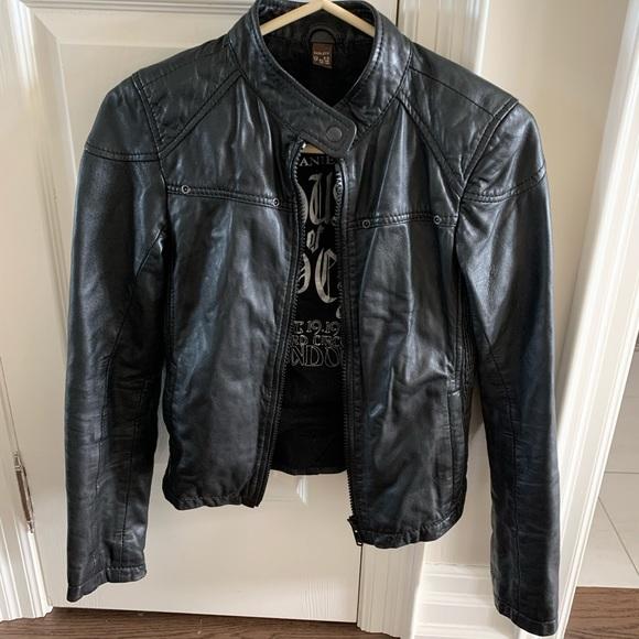 Danier Jackets & Blazers - Danier XXS Moto Leather Jacket